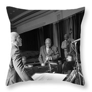 New Orleans Jazz Orchestra Throw Pillow