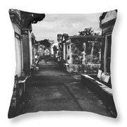 New Orleans Lafayette Cemetery Throw Pillow by Christine Till