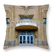 New Orleans Lakefront Airport Throw Pillow