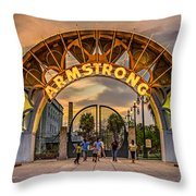 New Orleans Louis Armstrong Park  2 Throw Pillow