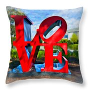 New Orleans Love 2 Throw Pillow
