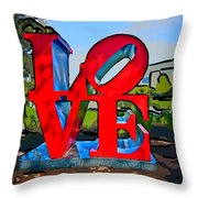 New Orleans Love 3 Throw Pillow