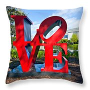 New Orleans Love Throw Pillow