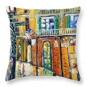 New Orleans Magic Throw Pillow