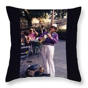 New Orleans Musician Throw Pillow