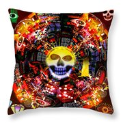 New Orleans Night Throw Pillow