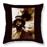 New Orleans Olympia Second Line Grand Marshall Throw Pillow