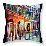 New Orleans Rainy Day Throw Pillow