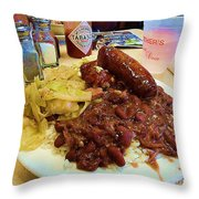 New Orleans Red Beans And Rice Throw Pillow