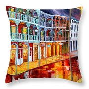 New Orleans Reflections In Red Throw Pillow