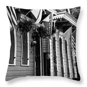 New Orleans Row Houses Throw Pillow
