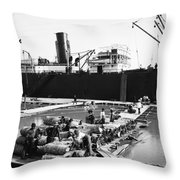 New Orleans Shipping, 1903 Throw Pillow