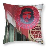 New Orleans Shops Throw Pillow