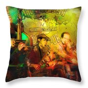 New Orleans Spotted Cat 03 Madness Throw Pillow
