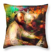 New Orleans Spotted Cat 05 Madness Throw Pillow