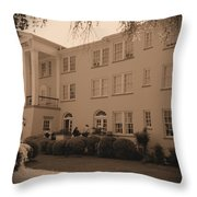 New Perry Hotel In Sepia Throw Pillow