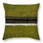 New Perspective Of The Picket Fence Throw Pillow