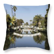 New Photographic Art Print For Sale Canals Of Venice California Throw Pillow
