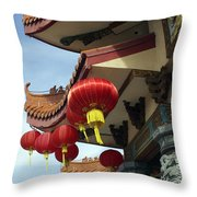 New Photographic Art Print For Sale Downtown Chinatown Throw Pillow