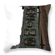 Dancing Girls Sign Downtown Los Angeles  Throw Pillow