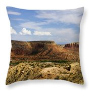 Ghost Ranch Landscape New Mexico 12 Throw Pillow