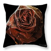Perfect Gothic Red Rose Throw Pillow