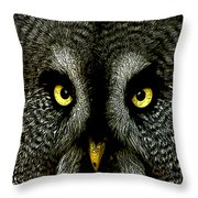 New Photographic Art Print For Sale   Great Grey Owl Throw Pillow