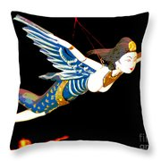 Iconic London Camden Puppets The Flying Princesses Throw Pillow