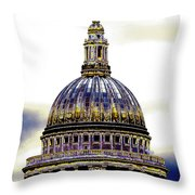 New Photographic Art Print For Sale   Iconic London St Paul's Cathedral Throw Pillow