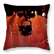 New Photographic Art Print For Sale Lights Camera Action Backstage At The American Music Award Throw Pillow
