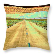 New Photographic Art Print For Sale Long Road To The Valley Of Fire Throw Pillow