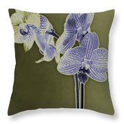 New Photographic Art Print For Sale Orchids 9 Throw Pillow