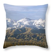New Photographic Art Print For Sale Palm Springs Wind Farm Landscape Throw Pillow
