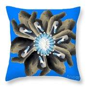 New Photographic Art Print For Sale Pop Art Swan Flower On Blue Throw Pillow