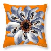 New Photographic Art Print For Sale Pop Art Swan Flower On Orange Throw Pillow