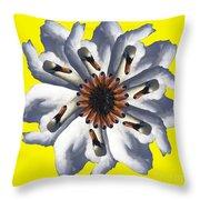 New Photographic Art Print For Sale Pop Art Swan Flower On Yellow Throw Pillow
