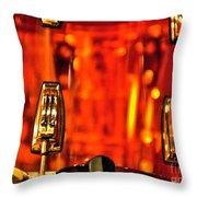 Transparent Orange Drum Backstage At The American Music Award Throw Pillow