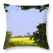 New Photographic Art Print For Sale Yellow English Fields 3 Throw Pillow