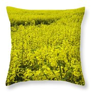 New Photographic Art Print For Sale Yellow English Fields 4 Throw Pillow