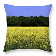 New Photographic Art Print For Sale Yellow English Fields Throw Pillow