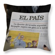 New Pope Throw Pillow