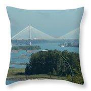 New Port Mann Bridge  Throw Pillow