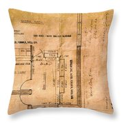 New Post Office Plans 1961 Throw Pillow