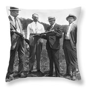 New Rifles For The Army Throw Pillow
