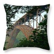 New River Gorge Bridge  Throw Pillow