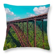 New River Gorge Throw Pillow
