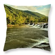 New River Landscape Throw Pillow