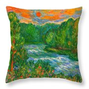 New River Rush Throw Pillow
