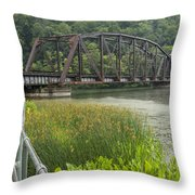 New River Scene 14 B Throw Pillow