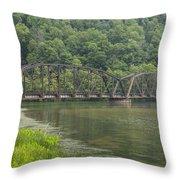 New River Scene 15 B Throw Pillow